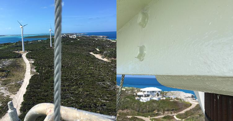 Over Yonder Cay wind turbine coating repairs - Thomas