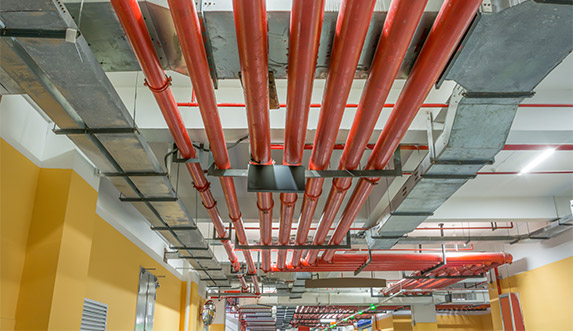 Pipes with intumescent coatings